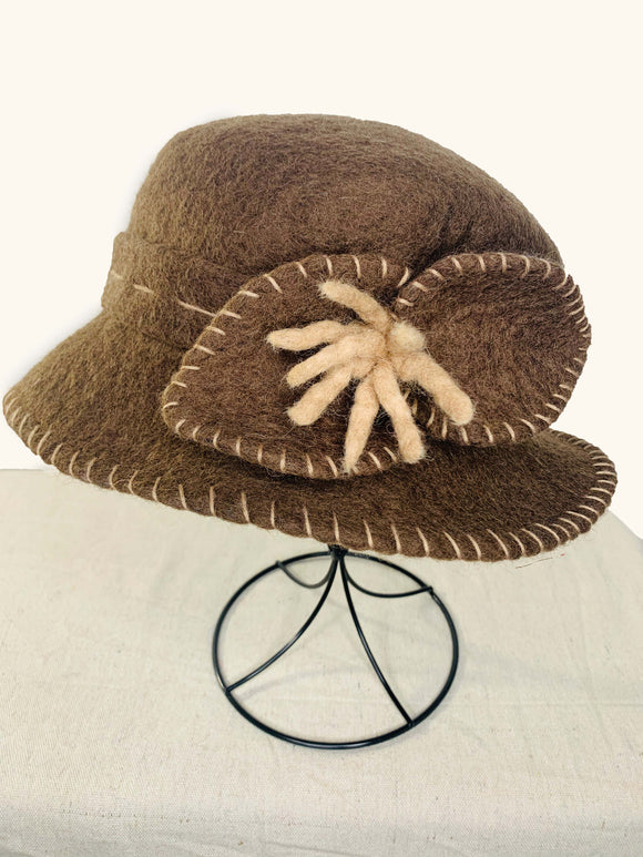 Brown Hat with Bow