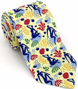 Modern Blues Art Necktie