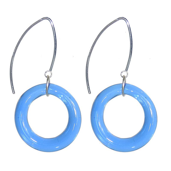 Circolo Murano Glass Earrings, Sapphire