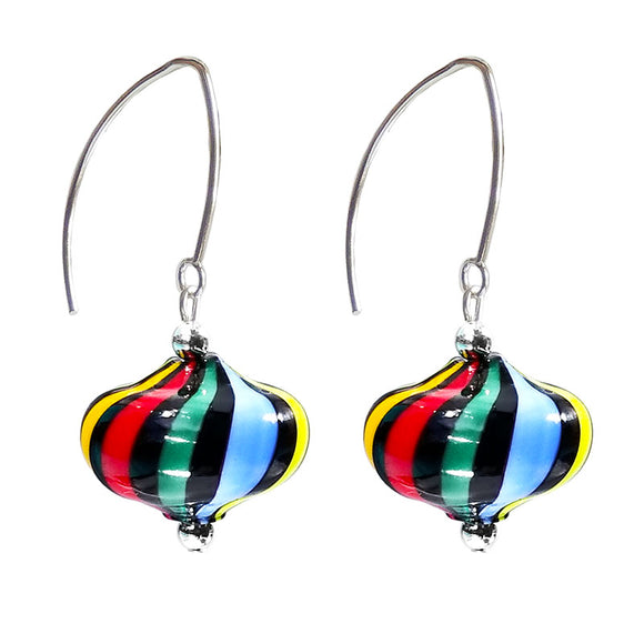 Verona Murano Glass Earrings, Carnevale