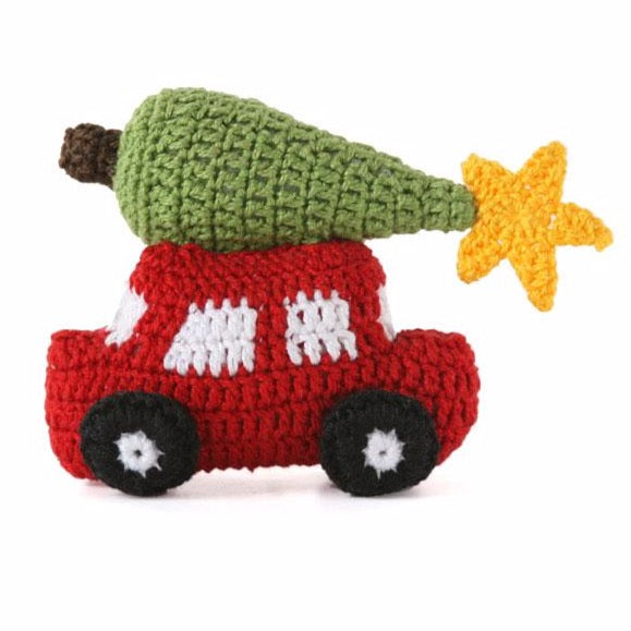 Car with Christmas Tree Ornament