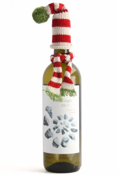 Wine Bottle Topper Hat and Scarf