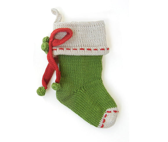 Mini Bow Green Stocking