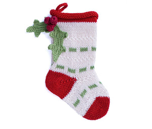 Mini Holly  Ecru Stocking