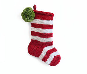 Mini Stripe Red Stocking