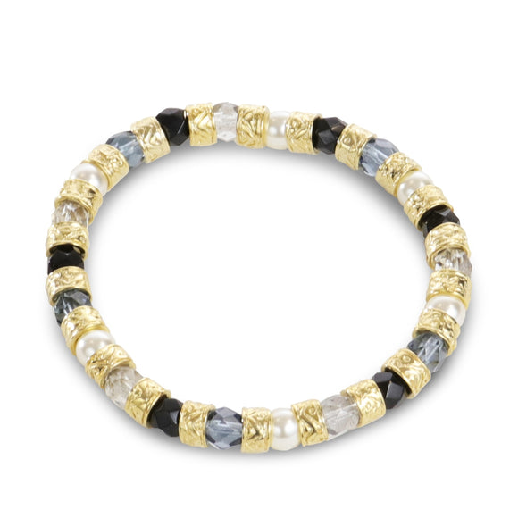 Murano Glass Bracelet- Black