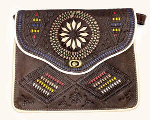 Moroccan Brown Leather Purse