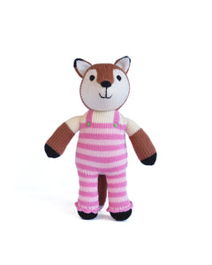 Knit Fox in Dungarees Lovey