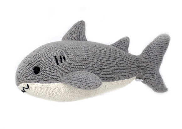 Knit Shark Stuffed Lovey