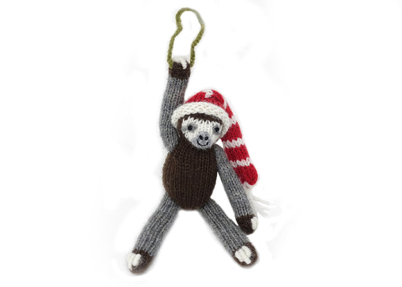 Sloth with Hat Ornament