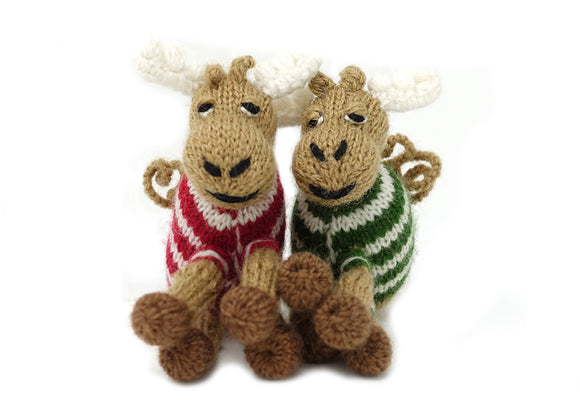 Moose  Ornaments Pair
