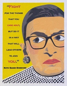 RBG Quote Card Yellow