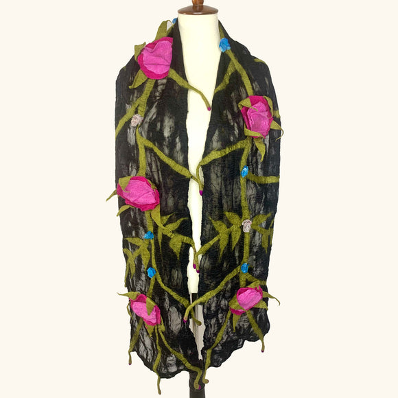 Rose Vine Wrap Scarf