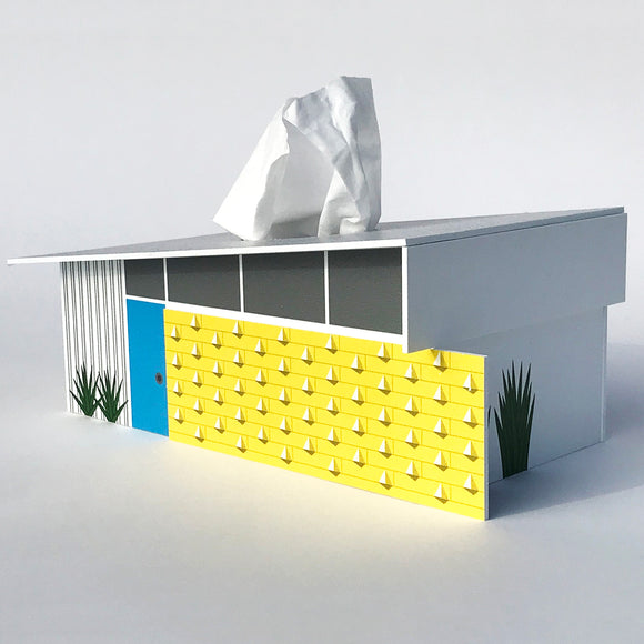 House Tissue Box Cover - Wedge