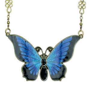 Brielle Bermuda Blue Wish Granters Butterfly Necklace