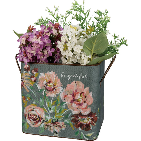 Be Grateful Flower Bin