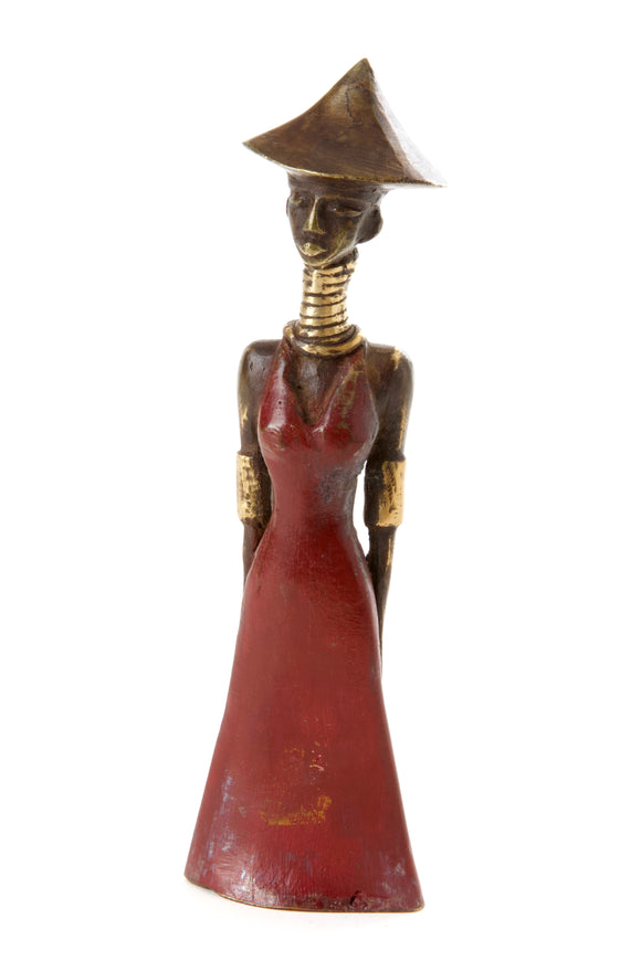 Yaake Abstract Burkina Bronze Sculpture-Small