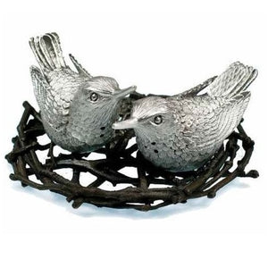 Hummingbird Salt & Pepper Shakers - Pewter