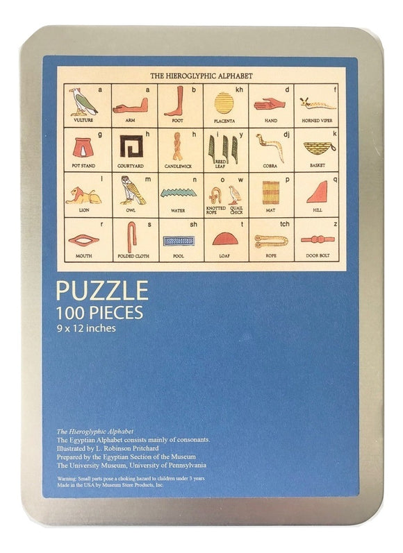 The Hieroglyphic Alphabet - 100 Piece Puzzle