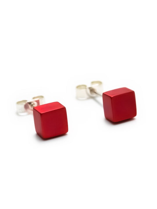 Aluminium Cube Earrings