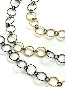 Shimmer Black & Gold Necklace