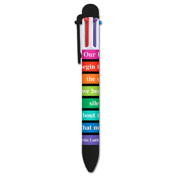 Martin Luther King Words- Multicolor Pen