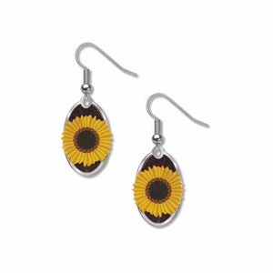 Common Sunflower - Purple Accent Earrings