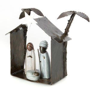 Springstone and Metal Holy Nativity Scene
