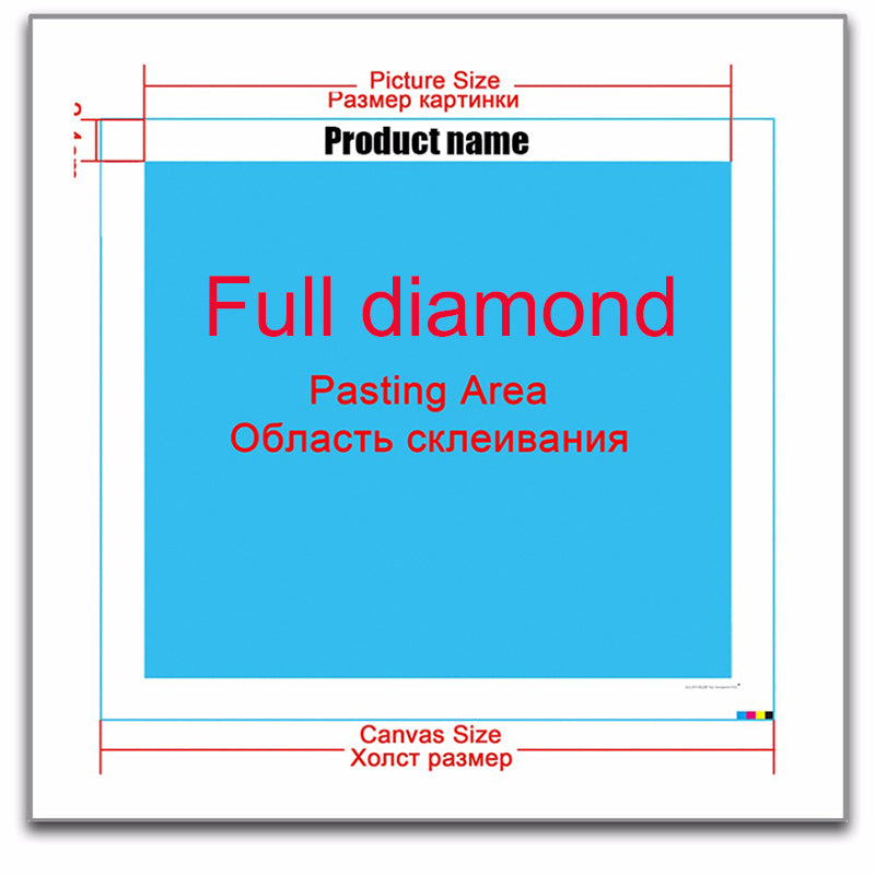 Photo Custom DIY 5D Cross Stitch Full Square Round Diamond Painting
