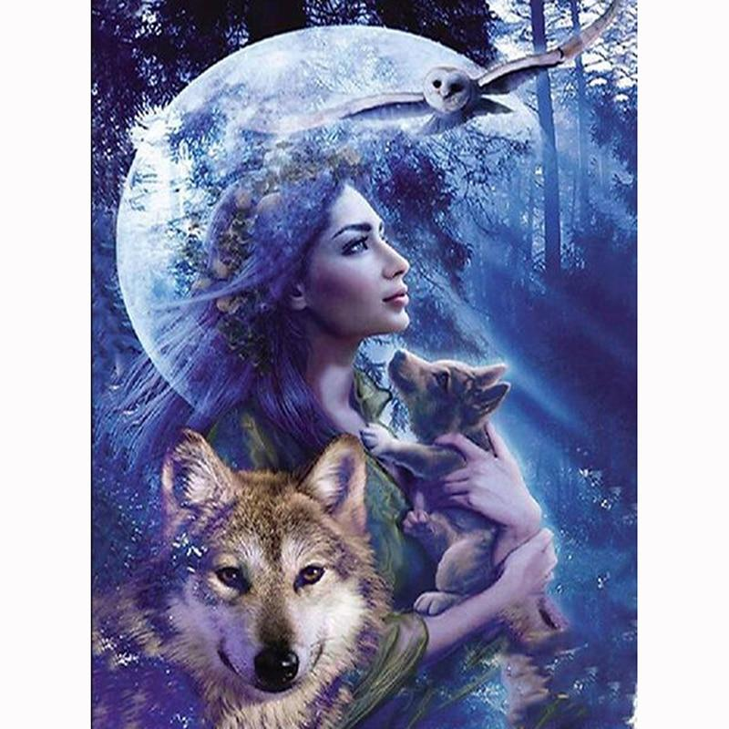 Young Wolf DIY 5D Cross Stitch Full Square Diamond Painting