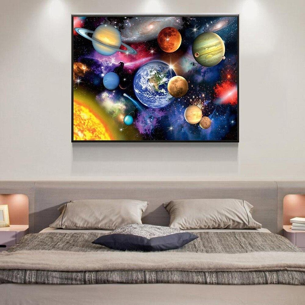 Space DIY 5D Cross Stitch Full Square Diamond Painting