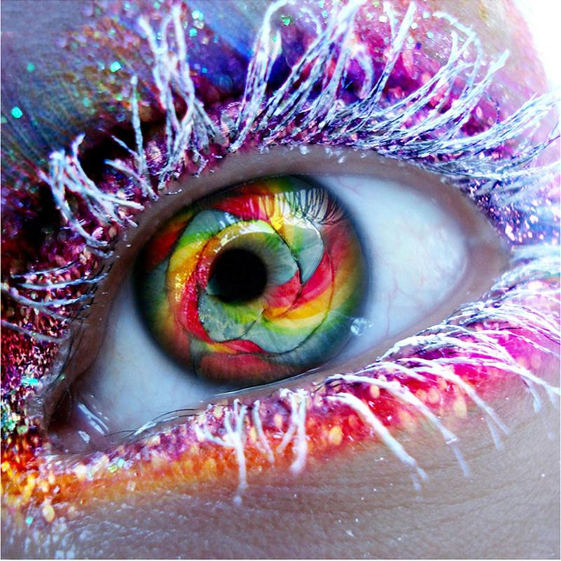 Colourful Eyeball DIY 5D Cross Stitch Full Square Diamond Painting