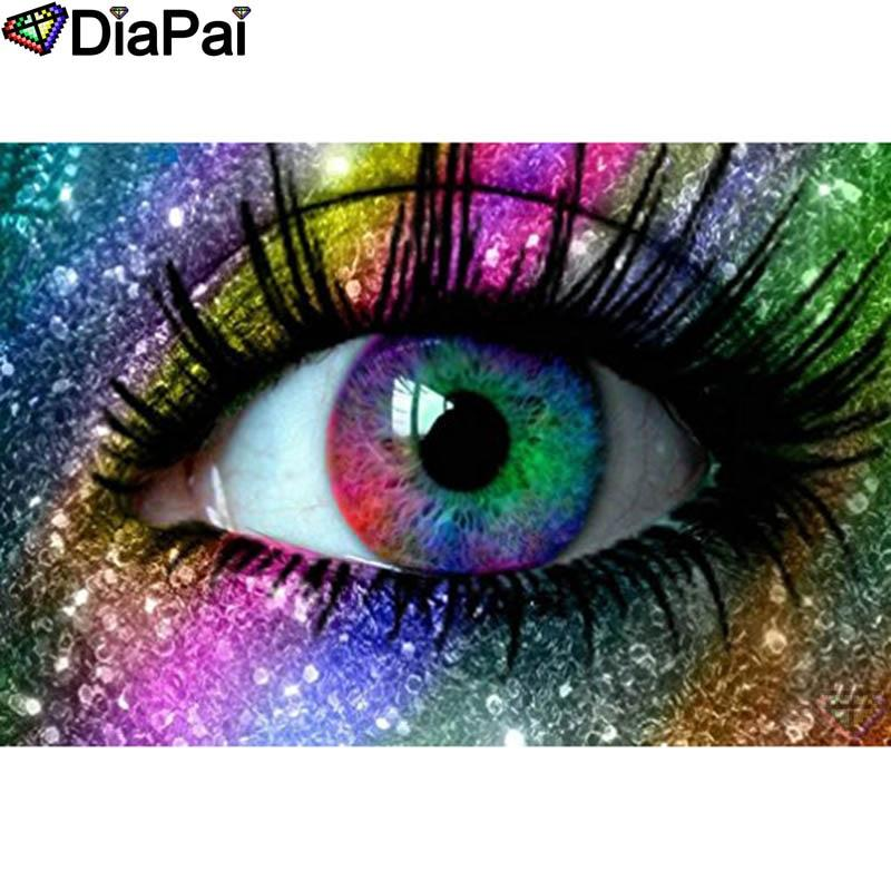Colored eyes DIY 5D Cross Stitch Full Square Round Diamond Painting