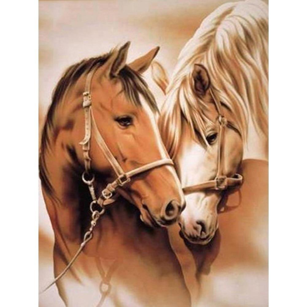 Full Square Drill Horse Diamond Embroidery Sale Animal Rhinestones Diamond Mosaic Cross Stitch