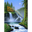 DIY Diamond Mosaic Scenery Picture Rhinestones Cross Stitch Diamond Embroidery Waterfall Full Square Crystal Home Decoration