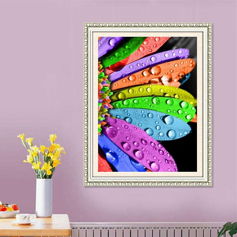 Handicrafts Rainbow Flowers 5D Diy Diamond Painting Cross Stitch Diamond embroidery