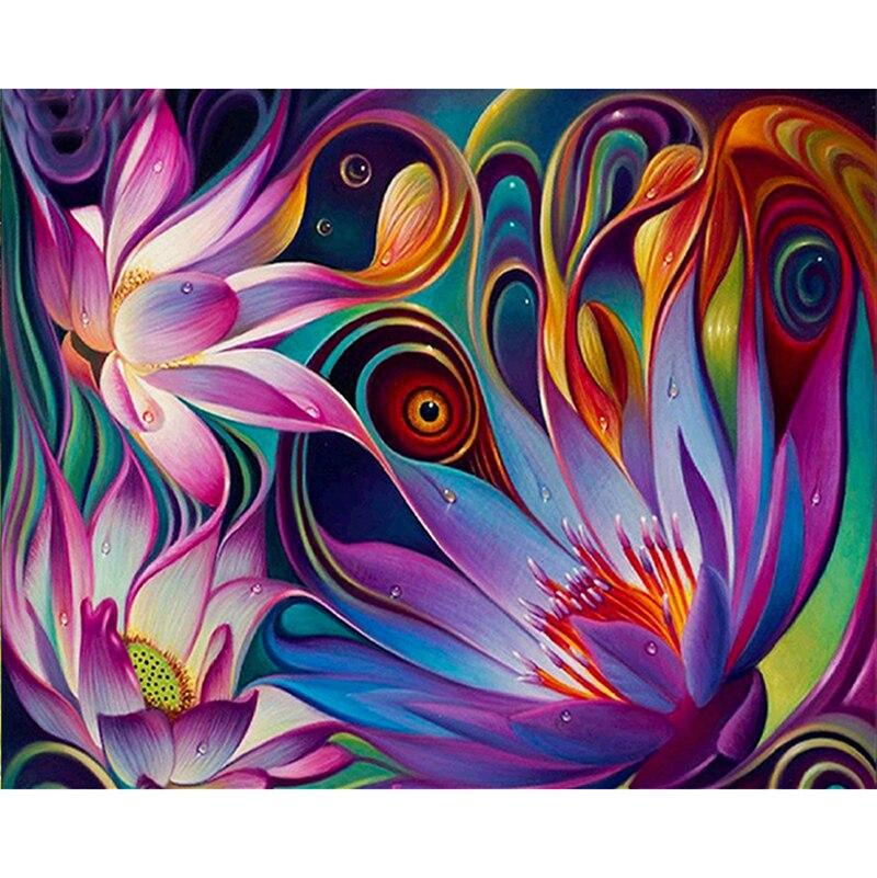 Rhinestone painting crystal Abstract Lotus Home Decor DIY Diamond painting