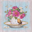 Diamond Painting Cup Bird Full Diamond Embroidery Flowers Red Pattern Rhinestones