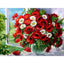 Icon Diamond Embroidery Red Flowers Square Rhinestone Painting