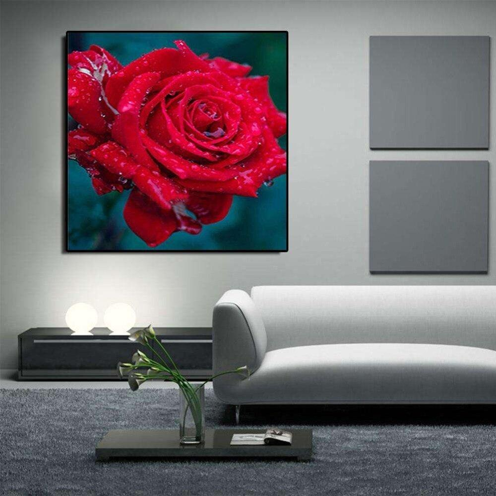 5D DIY diamond Painting Red Morning Rose Cross Stitch diamond embroidery