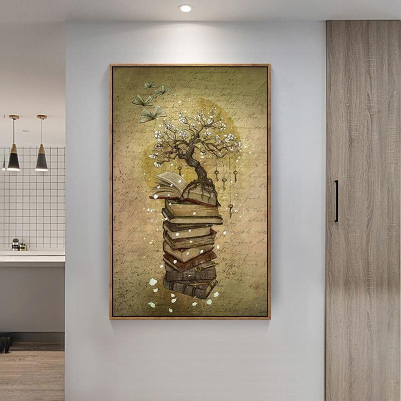 Book Tree DIY 5D Cross Stitch Full Square Diamond Painting