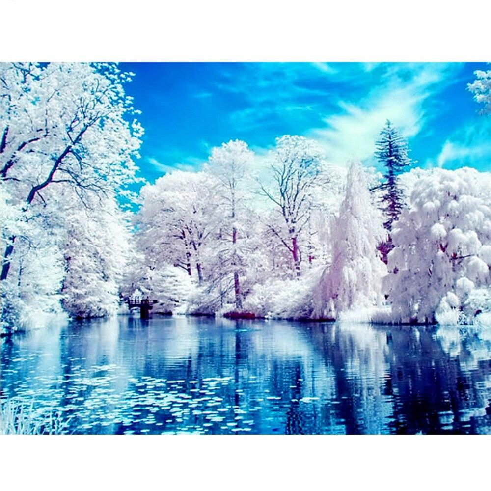 Winter Scenic DIY 5D Cross Stitch Full Square Diamond Painting