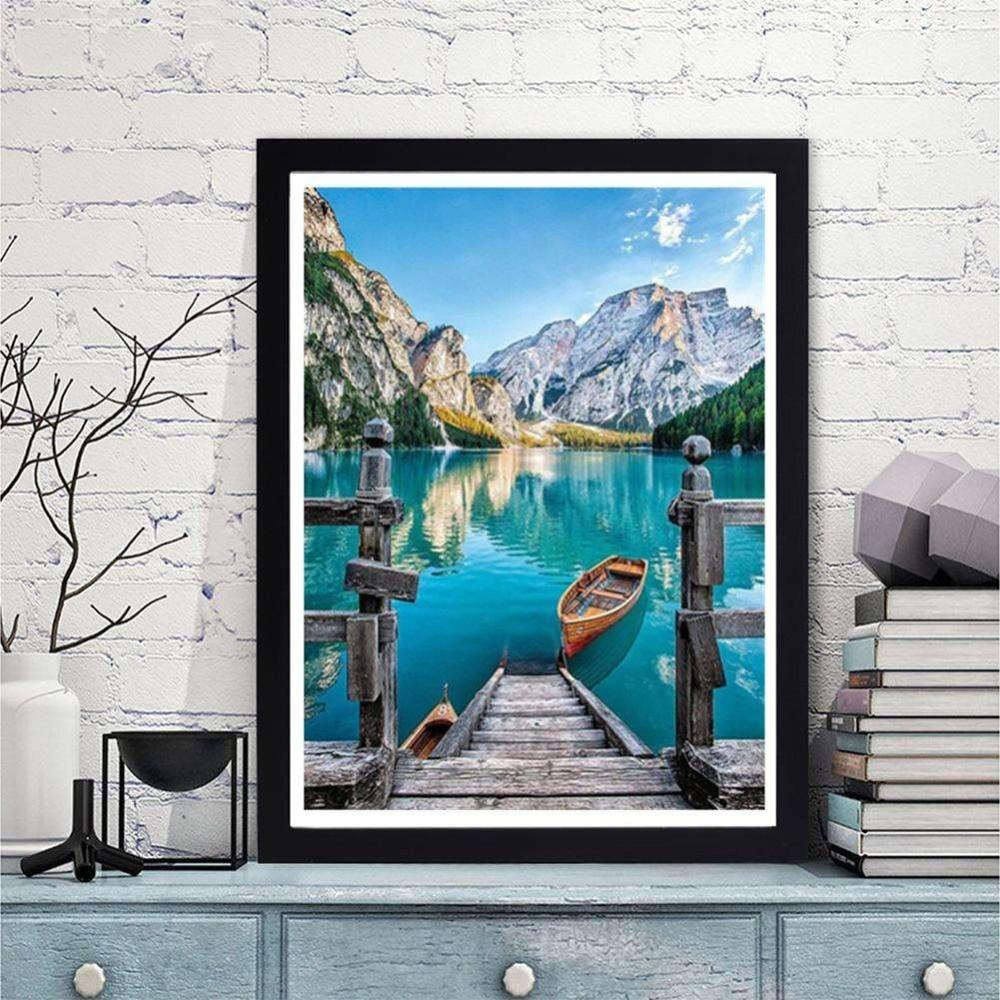 Scenery Large Lake & Mountain DIY 5D Cross Stitch Full Square Diamond Painting