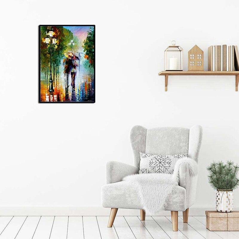 Walking In The Rain DIY 5D Cross Stitch Full Square Diamond Painting