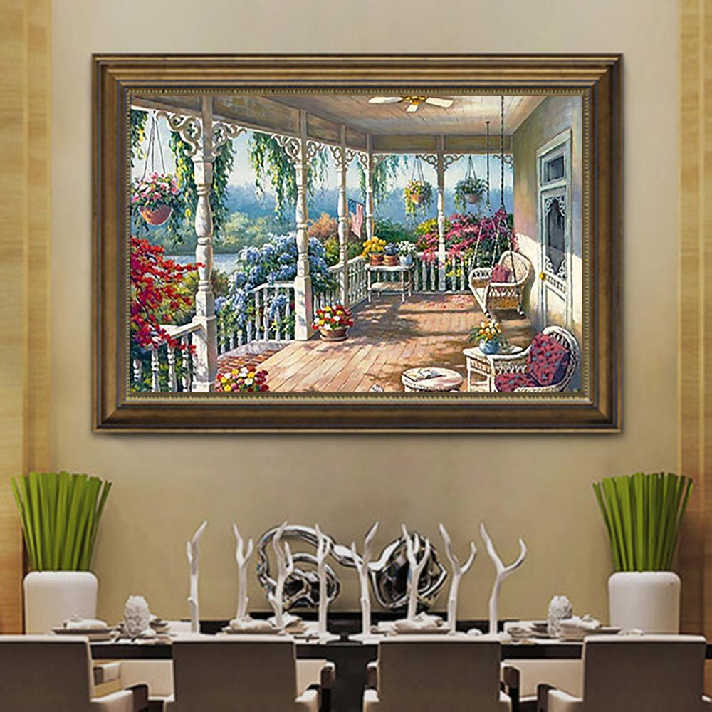 Landscape House DIY 5D Cross Stitch Full Square Diamond Painting