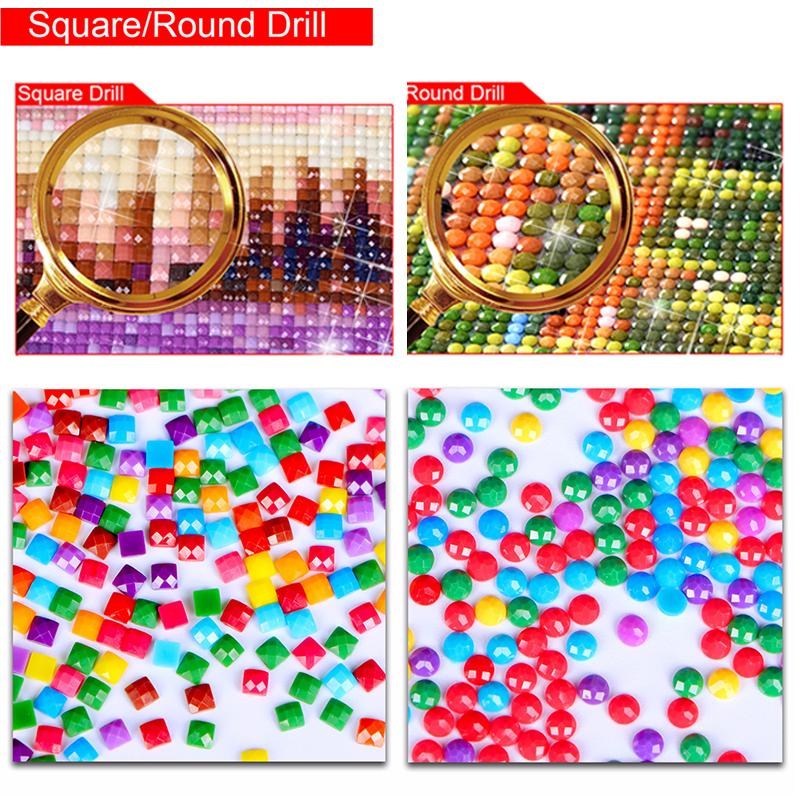 Seaside beautiful town DIY 5D Cross Stitch Full Square Diamond Painting
