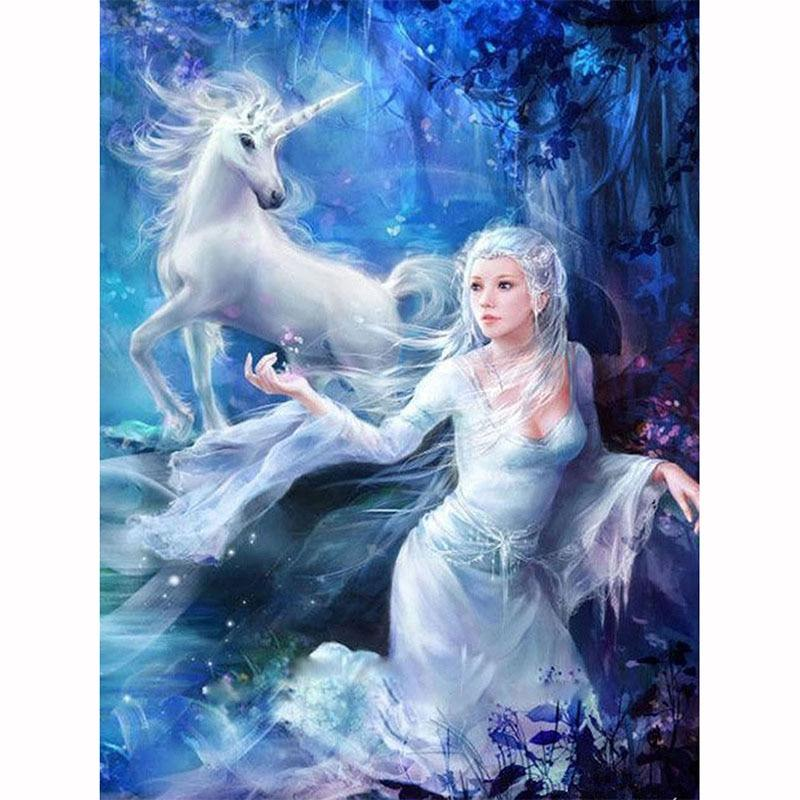 Fairy Unicorn DIY 5D Cross Stitch Full Square Diamond Painting