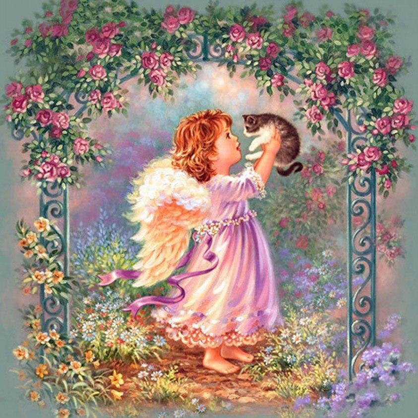 Angel Cat DIY 5D Cross Stitch Full Square Diamond Painting
