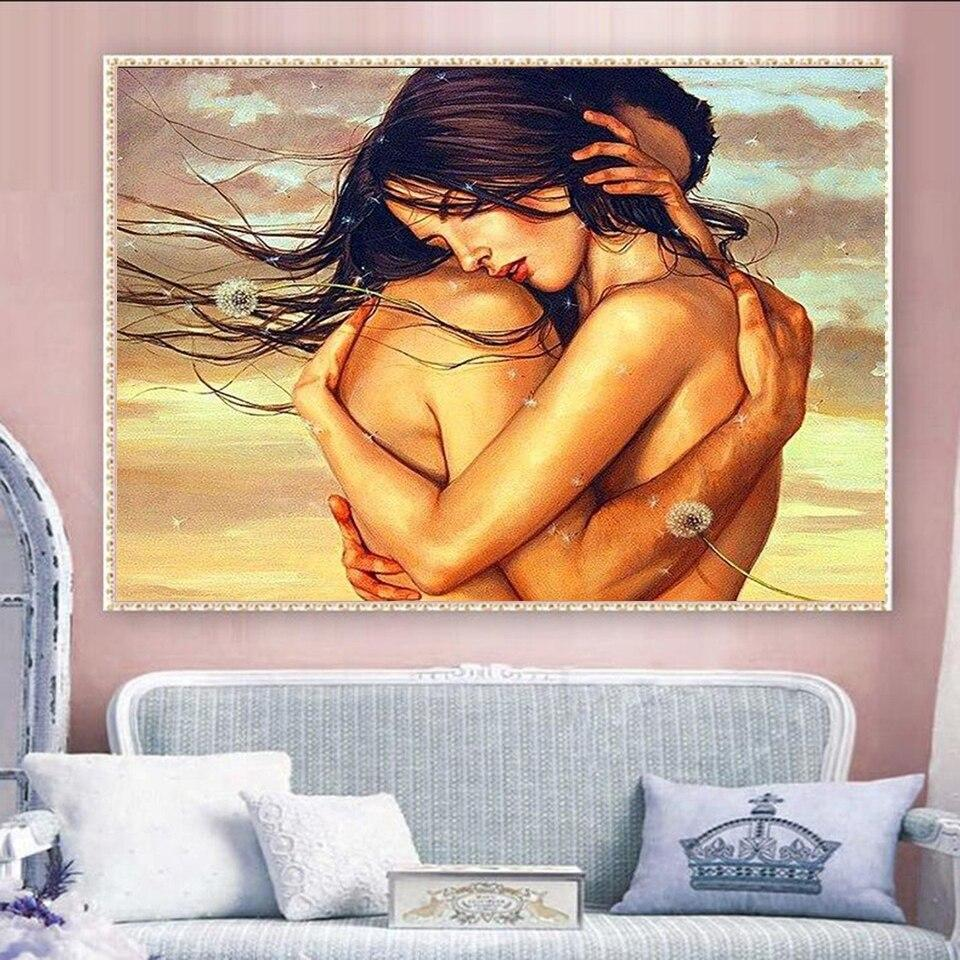 Two Naked Lovers DIY 5D Cross Stitch Full Square Diamond Painting