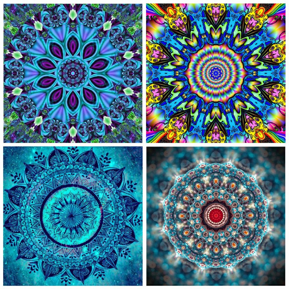 Mandala DIY 5D Cross Stitch Full Square/ Round Diamond Painting